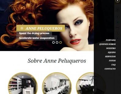 Desarrollo portal Anne Peluqueros