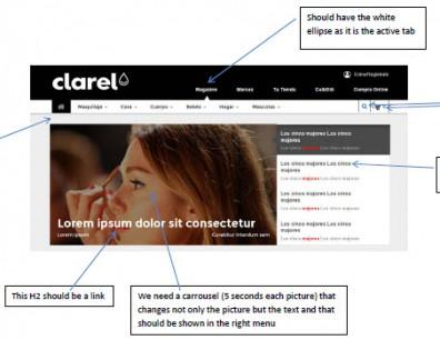Prototipo interactivo para Clarel